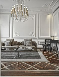 have some decorum: Parisian Apartment. L'appartement: Boiserie. Classic Decor, Classic Interior, Nordic Interior, Luxury Interior, Room Interior, Modern French Interiors, Decor Interior Design, Interior Decorating, Design Interiors