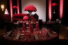 My wedding flower displays @The Ritz Carlton Tokyo. All red themed wedding.