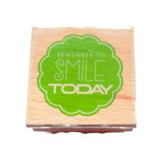 Remember to Smile Today Stamp by CloudNineSupplyShop on Etsy, $3.75