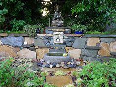 Jeffrey Bale's World of Gardens: Garden Altars - minature gardens Ganesha, Sacred Garden, Garden Arbor, Garden Fun, Garden Ideas, Prayer Garden, Outdoor Rooms, Outdoor Decor, Home Altar