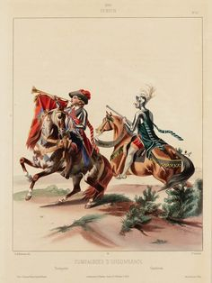 1600. Compagnies d'ordonnance d'Henri IV, Trompette et Gendarme. Marbot.