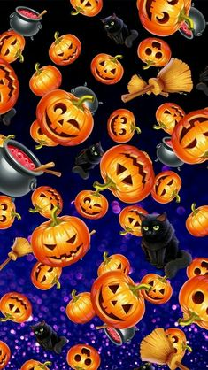 Wallpaper… By Artist Unknown… - Thanksgiving Wallpaper Halloween Artwork, Halloween Pictures, Halloween Cards, Spooky Halloween, Vintage Halloween, Halloween Pumpkins, Happy Halloween, Pokemon Halloween, Halloween Wallpaper Iphone