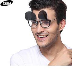 250128bc04 VEGA Polarized Clip On Sunglasses For Prescription Glasses Fit Over Glasses  Sunglasses Women Men Clip On
