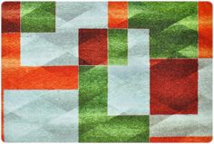 Amazon.de: DECO-MAT │ MODERNE / GRÜN-GRAU-ORANGE │ Rutschfeste Fussmatte / Türmatte 40 Coir Doormat, Recycled Rubber, Kitchen Mat, Hazelwood Home, Exterior Paint, Color Trends, Designer, Latex, Modern