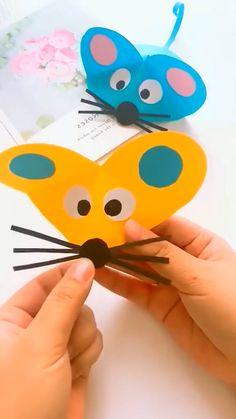 Boy Diy Crafts, Diy Crafts Hacks, Paper Crafts Origami, Paper Crafts For Kids, Fun Crafts, Preschool Crafts, Diy Paper, Paper Towel Roll Crafts, Cardboard Crafts