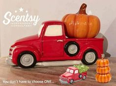 SCENTSY Warmers - How cool is this?! I thought my truck was going to stay parked in it's box until after Thanksgiving, however not so much anymore!!!  Say What. Then after Thanksgiving I will add the tree back on the truck for the Christmas Holidays!!!