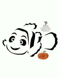 Finding Nemo Pumpkin Carving Pattern