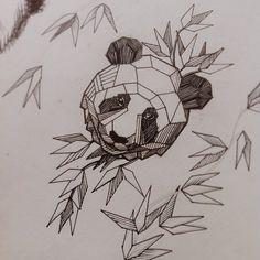 Лайнворк панда