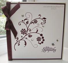 Sarah-Jane Rae cardsandacuppa: Stampin' Up! UK Order Online 24/7: Sympathy card using Flowering Flourishes by Stampin' Up!