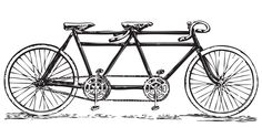 free printable tandem | This retro t andem bicycle is all about doing things together and just ...