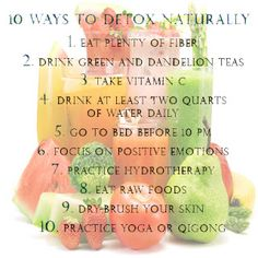 Health,Fitness and Me: 10 ways to detox naturally Health Diet, Health And Nutrition, Health And Wellness, Health Fitness, Holistic Wellness, Fitness Tips, Fitness Motivation, Natural Detox, Natural Healing
