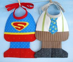 SALE - PDF ePattern - Super Baby and Little Man Baby Bib Sewing Pattern. $3.99, via Etsy.