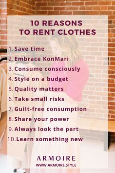 """Renting clothes solves three problems, the desire for something """"new,"""" saving money on a fixed budget and reducing closet clutter. Read to see if clothing rental is right for you >> budget percentage 10 Reasons to Rent Your Clothes Rent Clothes, Green Living Tips, Diva Fashion, Meaningful Quotes, Swagg, Self Improvement, Good To Know, Frugal, Helpful Hints"""