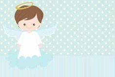 Baptism Invitation For Boys, Baptism Invitations, Christening Frames, Angel Clipart, Angel Theme, Bright Wallpaper, Baby Boy Scrapbook, Baptism Party, Birthday Decorations