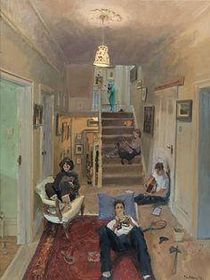 Shot by Ned - Peter Brown Hon British,b. Oil on canvas, 137 x 107 cm. Pretty Art, Cute Art, Art Sketches, Art Drawings, Arte Indie, A Level Art, Art Hoe, Ap Art, Aesthetic Art