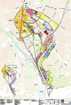 fig. 7. Esquema global de estructura urbana. (Plano 7 Imagen del Plan Director)
