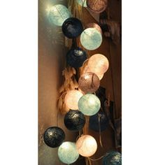 light chain from Happy Lights Cotton Ball Lights, Happy Lights, Light Chain, Moving Day, Boy Room, Lamp Light, Decorating Tips, Bunt, Wall Lights