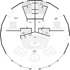 Round Open Floorplan