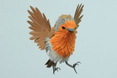 These are just so much fun!  Delicate Paper Birds by Diana Beltran Herrera - Beautiful/Decay Artist & Design