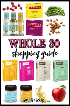 Not sure where to start on your Whole 30 journey? We've got you covered with a detailed Whole 30 shopping guide so you can crush your next Whole Foods run. Whole30 Shopping List, Food Shopping List, Tomato Basil Pasta Sauce, Lara Bars, Primal Kitchen, Whole 30 Diet, Fresh Meat, Recipe 30, Spinach Stuffed Chicken