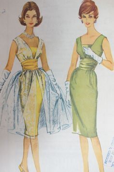 Dress Pattern Vintage 1960 McCall's 5349 Size 12 by strangenotions