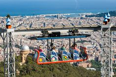 Tibidabo -- Accessible by metro, train as well as the funicular from Barcelona, this hill is a great destination to consider while planning your trip to Barcelona. You can get a spectacular view of the city of Barcelona from here. http://www.triphobo.com/tibidabo-barcelona-spain
