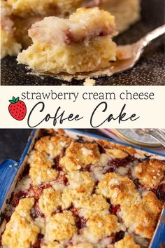 Strawberry Cream Cheese Coffee Cake has a cream cheese layer throughout giving it a moist texture. Strawberry jam mixed in makes it perfect for breakfast or brunch any time of the year. Cream Cheese Coffee Cake, Cream Cheese Filling, Brunch Recipes, Dinner Recipes, Pastry Blender, Strawberry Jam, Breakfast For Dinner, Vegetarian Cooking, Baggage