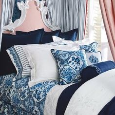 Absolutely love the Palm Harbor bedding ensemble!