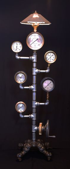 Steampunk Floor Lamp - Componere Gallery, University City, MO. By Larry Frederick.