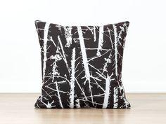 Brown Pillow Cover, Tree Pillow, Loft Decor. Brown Throw Pillow, Nature Pillow, Log Cabin Decor. Woodland Home Decor, Forest Wood Pillow
