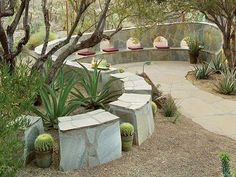 Are you seeking for a beautiful and heart pleading courtyard that endows you with comfort? Here are few guidelines, which can transform your courtyard into a commendable place. The courtyard should be designed keeping in view the comfort and. Modern Landscape Design, Modern Landscaping, Outdoor Landscaping, Desert Landscape, Landscaping Ideas, Agaves, Outdoor Rooms, Outdoor Living, Desert Backyard