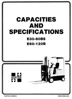 Hyster Diesel/LPG Forklift Truck D003 Series: H30H, H40H