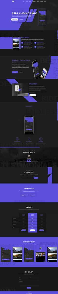 TiDY - Mobile App Landing Page Design - PSD Template by Rikon_Rahman