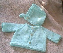 Free Knitting Pattern - Preemie Clothes: Raglan Sweater and Cap