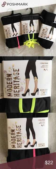 NEW Leggings! Bundle of three leggings.  New with tags, see pics.  2 are M/L and one is S/M modern heritage Pants Leggings