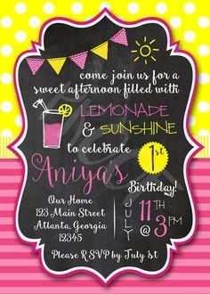 girls-pink-lemonade-first-birthday-party invitation