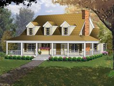Devonshire Hill Acadian Home  from houseplansandmore.com