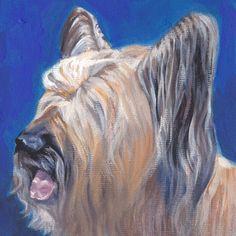 Portrait de Skye Terrier chien art toile imprimer par TheDogLover