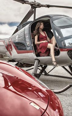 Helicopter and Ferrari and