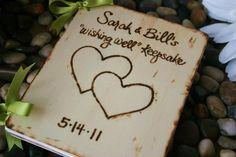 Custom Wedding Guest Book Wood Rustic Chic Wedding Bridal Shower Advice Anniversary Engagement Baby Shower Photo Album or Journal. $44.99, via Etsy.