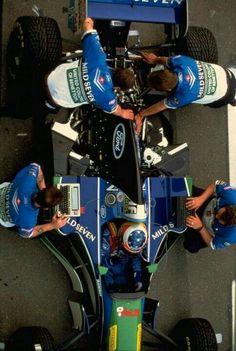 Schumacher con su Benetton.