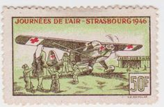 France Red Cross Stamp 1946.