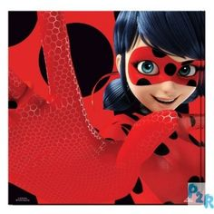 "Guardanapos Para Festas De Aniversário Do Tema "" Miraculous Ladybug"""