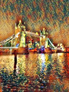 Tower Bridge Bridge Painting, Tower Bridge, Artsy, Drawings