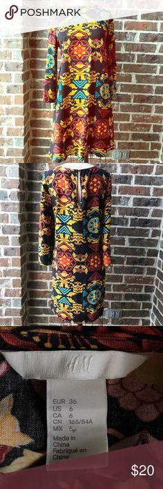H&M dress H&M patterned dress. EUC! H&M Dresses