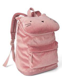 Cat velour backpack
