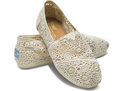 Toms Womens Crochet shoes Beige - only $24.95!
