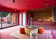 Besides the professional observatory and state-of-the-art nightclub, this Sunset Strip home entertains guest with a Moroccan-inspired hookah lounge. Not my thing but it is a cool room to say the least.