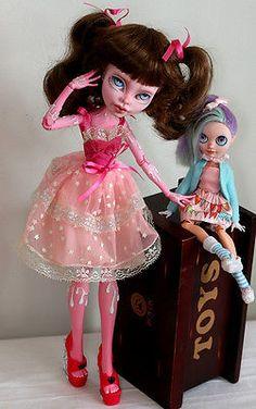 "OOAK Custom Monster High 17"" art doll Gooliope Jellington BJD repaint Loki"