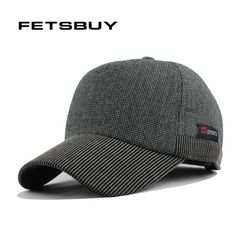 FETSBUY Winter Cap Fashion Leisure Hats For Man Polyester Casquette Cap  With Fur Lining Earmuff Baseball b96783d4dfd